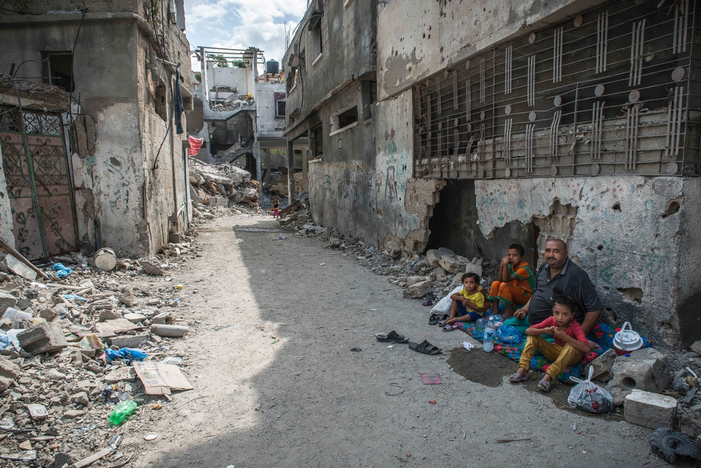 """Views of Beit Hanoun, one of the neighborhoods most affected by the bombings in Northern Gaza.  After 50 days of """"protective edge"""" operation started July 8, 2014, a cease-fire was declared on August 26 in Gaza. In addition to the material destruction, the death toll is particularly heavy with more than 2,000 casualties, including about a quarter of children, and more than 10,000 wounded. Medical needs remain very high, especially in terms of postoperative care, rehabilitation and mental health. MSF supports the burn unit of Shifa Hospital and runs a clinic postoperative care in central Gaza."""