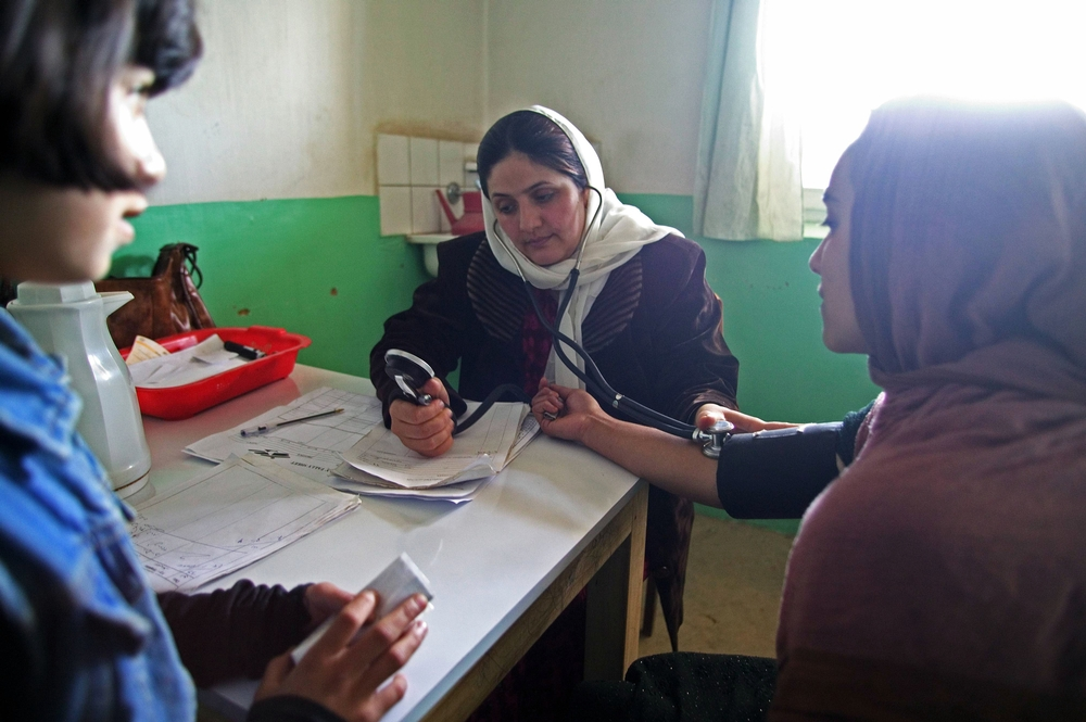 Dr. Najeeba (30) has been working for MSF in the Karte Armani clinic since 1999, she also has a private practice.